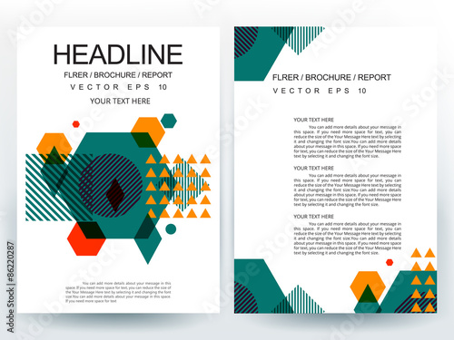 Abstract Vector Modern Flyer Brochure / Annual Report /Design