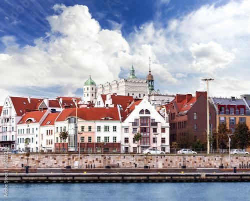 Фото: szczecin (stettin) city waterfront view, poland