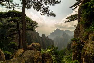 Photo sur cadre textile Chine Huangshan mountains, China