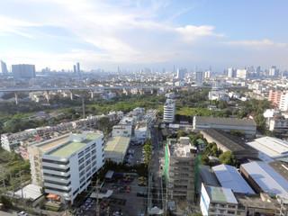 Aerial view of Bangkok, Thailand.