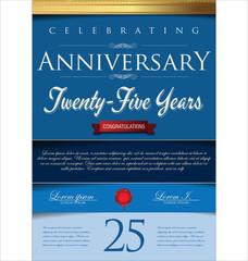 Anniversary background, 25 years