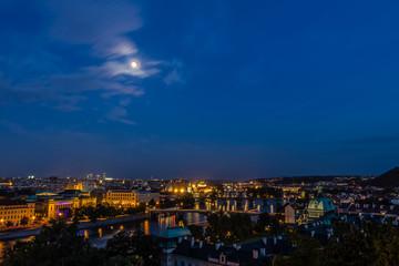 Prague view in night, Czech Republic