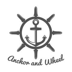 Retro vintage nautical label and badge logo template