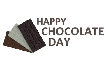 happy chocolate day concept