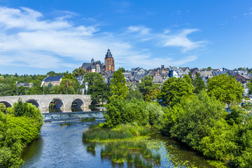 old Lahn bridge and view to  Wetzlar dom
