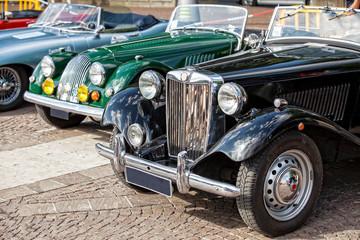 esposizione di vecchie auto