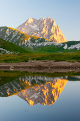 Fotorollo Reflexion Gran Sasso d' Italia Lago Pietranzoni
