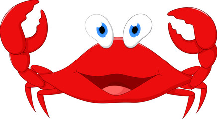 Happy crab cartoon