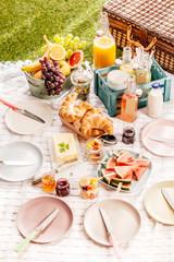 Delicious healthy summer picnic