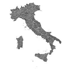 Scribble Landkarte Italien