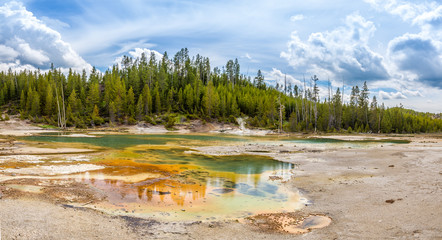 Norris Basin in Yellowstone N.P.