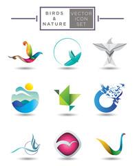 Birds emblem collection