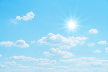 Mostly sunny weather.