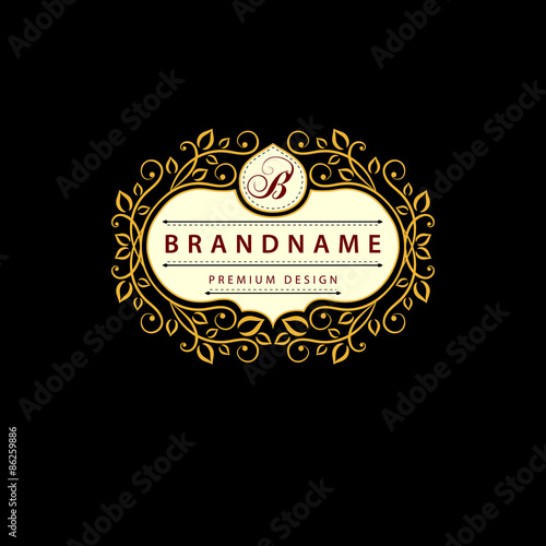 Monogram design elements graceful template elegant line art logo monogram design elements graceful template elegant line art logo design business sign wajeb Gallery