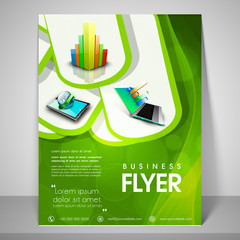 Professional template, banner or flyer for business.