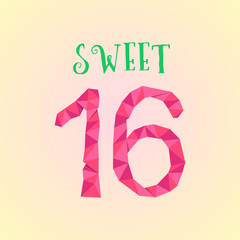 sweet sixteen with polygonal number