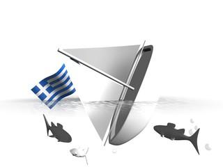 Griekenland - zinkend schip