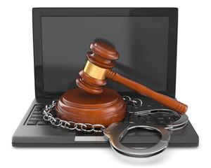 Gesetzverstoß Internetkriminalität