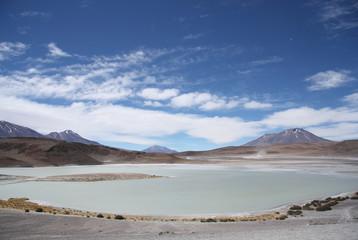 Laguna Honda - Deep Lagoon - in Eduardo Avaroa National Park in Bolivia