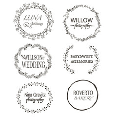 Six high Quality vector Labels