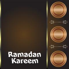 Calligraphy of Arabic text of Ramadan Kareem for the celebration of Muslim community festival