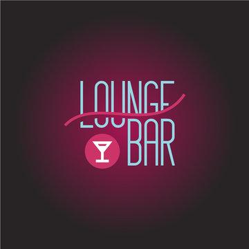 Lounge bar logo template