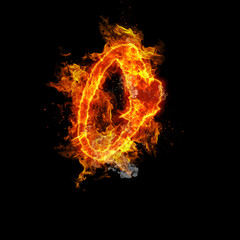 Fire letter O