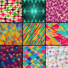 set of different colored backgrounds. abstract vector illustration eps10