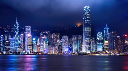 HONG KONG - JUNE 09: City Landscape of Hong Kong from Star of Av Fotomurales