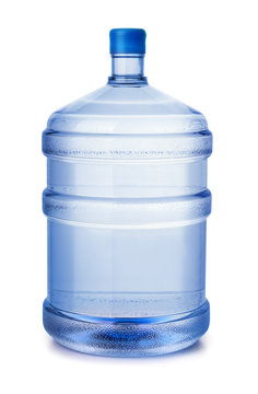 Five gallon plastic water bottle