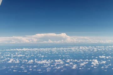 aerial sky view from a plane