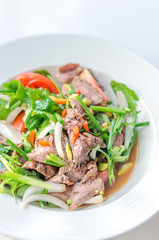 spicy grilled beef salad