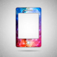 Abstract Creative concept vector icon of smart phone for Web and