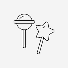 lollipop line icon
