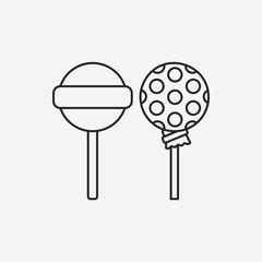 lollipop line icon