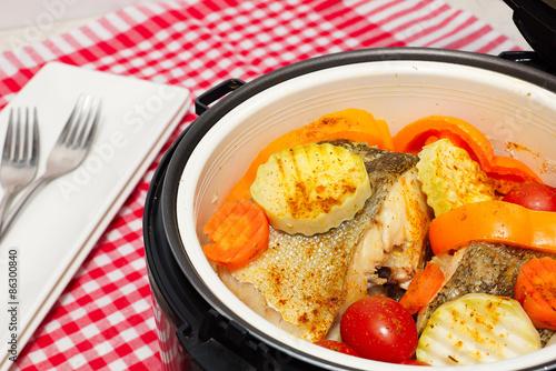 Овощи с рыбой на пару в мультиварке рецепты с фото