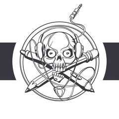 Skull Designer Black