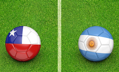 2015 soccer tournament, teams Chile vs Argentina