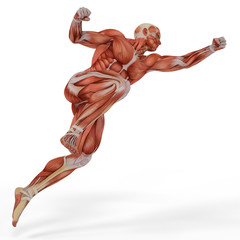 muscle medical man golkeeper jump