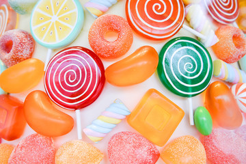 Mixed colorful candy