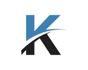 K Letter Swoosh Modern Logo