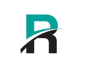 R Letter Swoosh Modern Logo