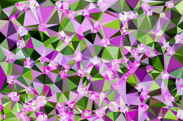 Colorful flower polygonal mosaic.
