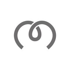 Letter M Logo Concept Icon. Vector