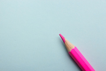 Color pencil on colored background