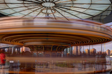 Colorful merry-go-round.