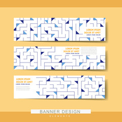 creative banner template set design