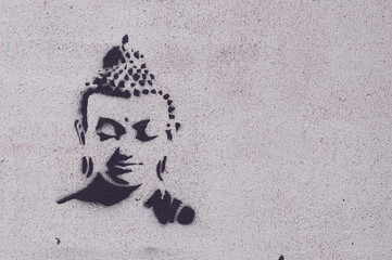 Graffiti bouddha