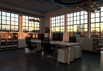 Büroraum im Loft