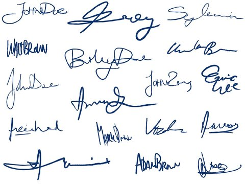 Handwritten signatures